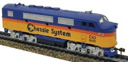 Model Power MDP96802 HO-Scale F2A Diesel Locomotive, CHSY Chessie System