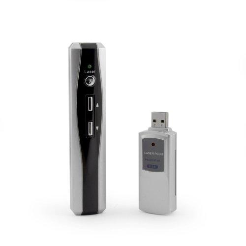 Incutex RF - OHNE Zielen! schnurloser Presenter mit Laserpointer, wireless Laser Pointer Remoter, PowerPoint Fernbedienung