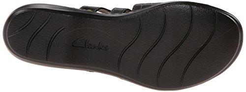 Cacti Leisa Black Slide Sandal Women's Leather Clarks qax7wSfS