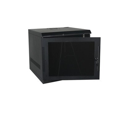 600 Series E-Z Compact Wall Mount Enclosure Color: Black, Rack Spaces: 9RU