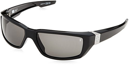 (Spy OpticDirty Mo Polarized Sunglasses,Shiny Black Frame/Grey Lens,one size)