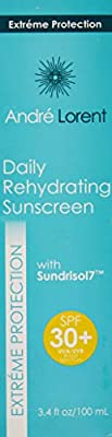 Daily Rehydrating Sunscreen: SPF 30+ - Contains Vitamins C & E, Green Tea & Ginkgo Biloba Extract - Rehydrating Skin Protection - Paraben & Fragrance Free - Broad Spectrum UVA/UVB Protection