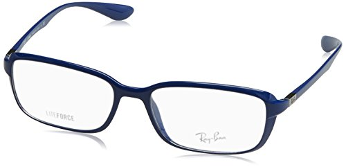 RAY BAN Eyeglasses RX 7037 5431 Shiny Dark Blue - Ray Measurements Ban