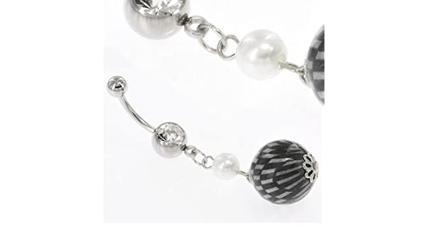 Amazon Com Body Accentz Belly Button Ring Charm Is Roughly 19mm
