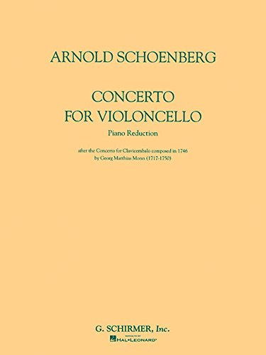 Concerto for Violoncello and Orchestra: Piano Reduction by G. Schirmer