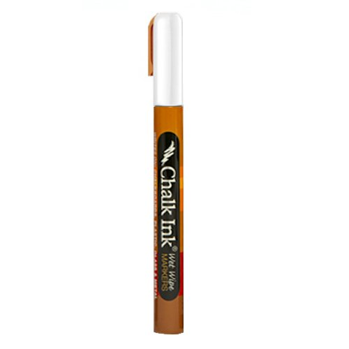 Chalk Ink 1MMWWFINEWHITE Fine Tip Wet Wipe Marker, 1 mm, Chalk White