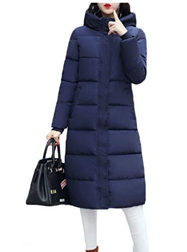 EKU Women Long Jackets Coats Hood Warm Parka Overcoat Outwear 1