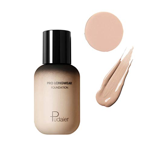BXzhiri Face and Eye Foundation Liquid with Puff