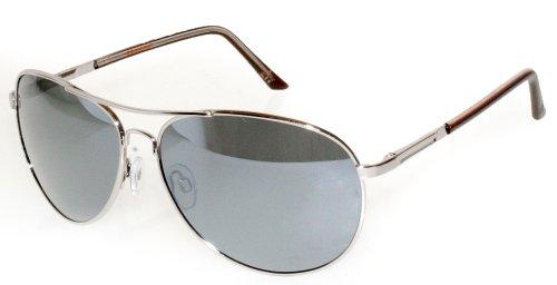Dockers Polarized Metal Aviator Sunglasses One Size Gunmetal - Sunglasses Docker