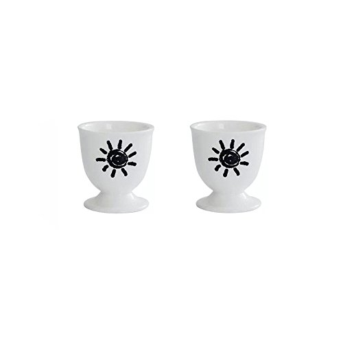 White Porcelain Egg Cup, 2.2'',Pack of 2 by Warmtree