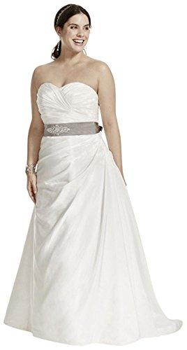 Taffeta-Ruched-A-Line-Plus-Size-Wedding-Dress-Style-9WG3243
