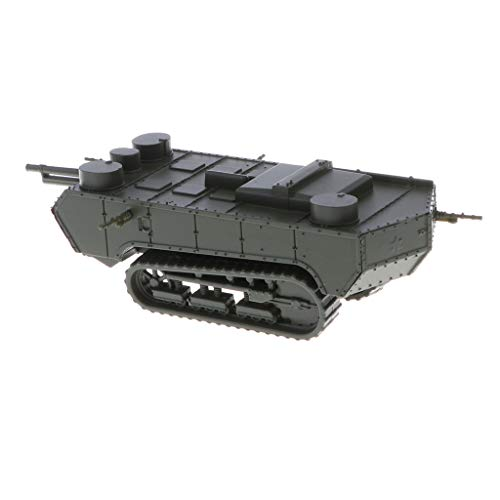 (CUTICATE Hobby Models - French St-Chamond Early Tank Miniature Model - WWI Heavy Panzer, 1:100 Scale)