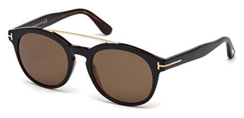 Tom Ford FT0515 05H Black Dark Havana Newman Round Sunglasses Polarised Lens - Ford Newman Tom