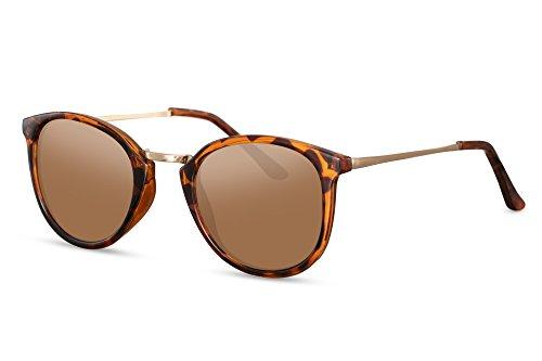 002 Leo Rondes Noir Cheapass Rétro Lunettes Ca Hommes Brun Sunglasses Femmes RqwvXp
