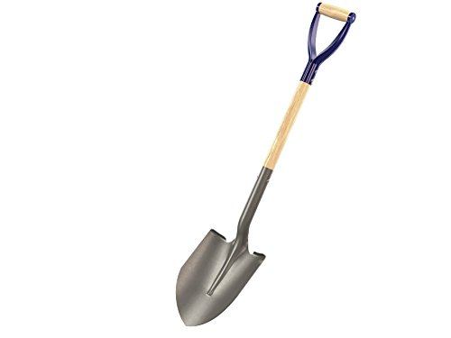 Point Shovel Wood Handle - Bon 14-256 Contractor Grade Round Point Shovel with 27-Inch D Handle