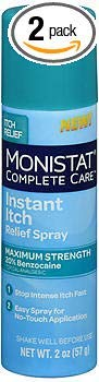 - Monistat Complete Care Instant Itch Relief Spray - 2 oz, Pack of 2