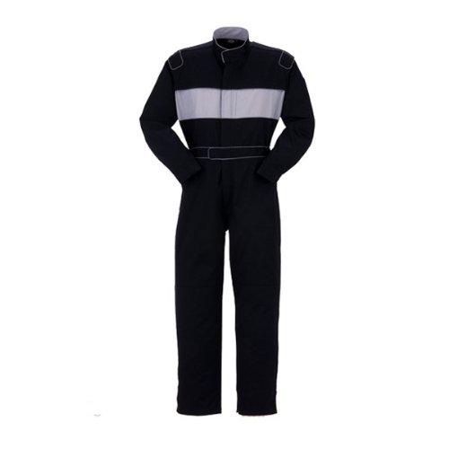 YAMATAKA(ヤマタカ)長袖つなぎ おしゃれ アームプラス機能 綿100%yt-7575 B008H1TOBU S|ブラック