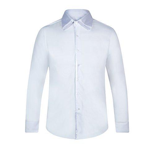 Coton By Homme Blanc Qe67wapt Satin Shirt Robelli 13009 T Ou Qualité kuOXiPZ
