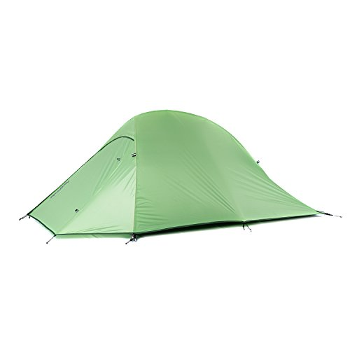 Naturehike Backpacking Hiking Tent 4 Season 2 Person Lightweight Waterproof for Camping (Green)