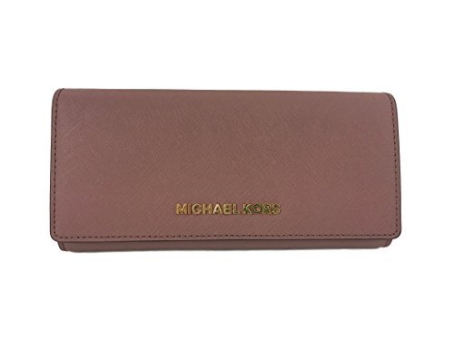 Michael Kors Jet Set travel Carryall Leather Clutch wallet in Dusty Rose by Michael Kors