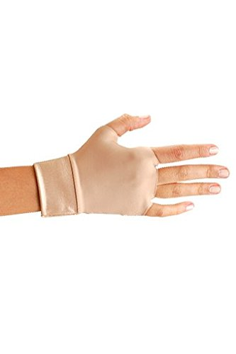 OccuNomix Small Beige Original Occumitts Nylon And Spandex Fingerless Therapeutic Support (Occumitts Therapeutic Support Gloves)