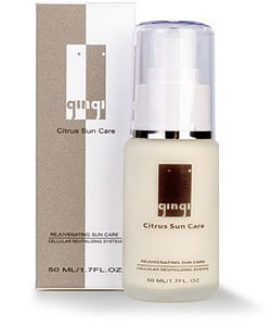 Gingi Facial Sunscreens Citrus Sun Care Moisturizer, Sunblock or Sunscreen for Before and After Protection