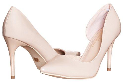 Instep Bar (v19.69 Italia Womens Alexandra High Heel Pumps Nude Beige Tan Size 8.5)