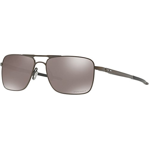 Oakley Men's Titanium Man Polarized Square Sunglasses, Pewter, 57 - Oakley Titanium Glasses