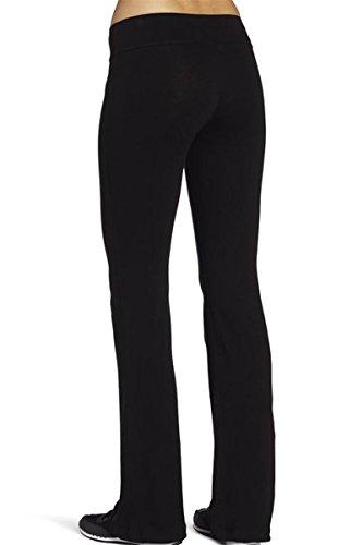 4How Women's Running Yoga Pants Fitness Trousers Boot-cut Boot-cut Black XL