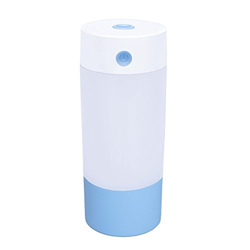 Price comparison product image Wonton Cool Mist Ultrasonic Humidifier,  250ML USB Portable Mist Air Mini Humidifier-Quiet Operation,  Automatic Shut Down,  Night Light Function For Office Home Bedroom Car (Blue-250ML)