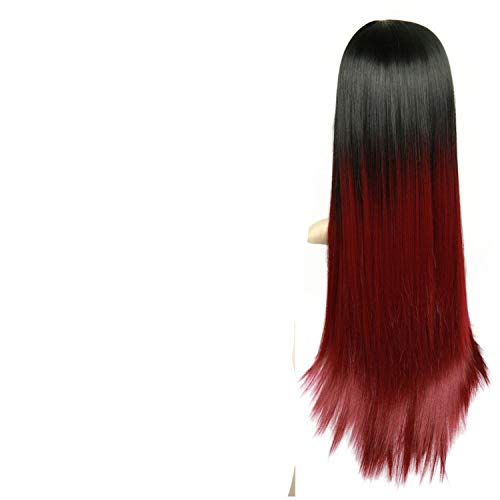 (Heat Resistant Synthetic Fiber Straight Wigs For Women Glueless Cosplay Natural Hair)