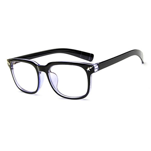 LOMOL Girls Retro Lovely Personality Student Style Transparent Lens Wayfarer Frame - Online Spectacles Nz