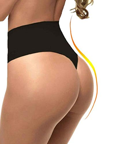 FUT Women Waist Cincher Girdle Tummy Slimmer Sexy Thong Panty Shapewear Postpartum Underwear Black