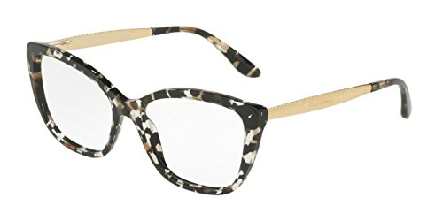Dolce & Gabbana Dolce & Gabanna DG3280 911 54 Cube Black/gold Woman Cat Eye Eyeglasses - Black