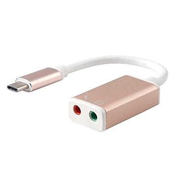 Ociodual Adaptador Tarjeta de Sonido USB 3.1 Tipo C Audio ...