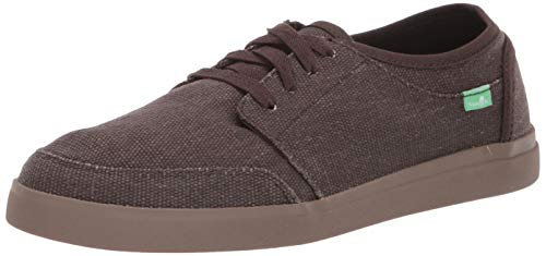 Used, Sanuk Men's Vagabond Lace Canvas Sneaker, Dark Brown/Gum, for sale  Delivered anywhere in USA