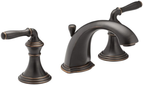 KOHLER Devonshire K-394-4-2BZ 2-Handle Widespread Bathroom Faucet with Metal Drain Assembly in Oil-Rubbed Bronze ()