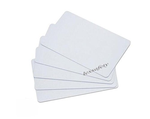 Generic White PVC Plastic Shielded Credit Bank Card Protection Wallet RFID Blocking Smart Card Pack of 100