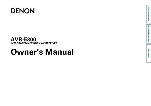 denon-avr-e300-receiver-amplifier-owners-manual-plastic-comb-jan-01-1900