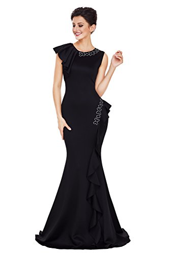 long black prom dress with diamonds - 4