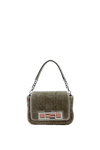 8BR7575C1F065Q Fendi Hand Bags Women Fur Gray