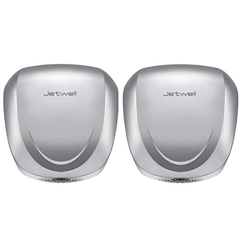 JETWELL (2 Pack High Speed Commercial Automatic Eco Hand Dryer-Heavy Duty Stainless Steel-Warm Wind Hand Blower