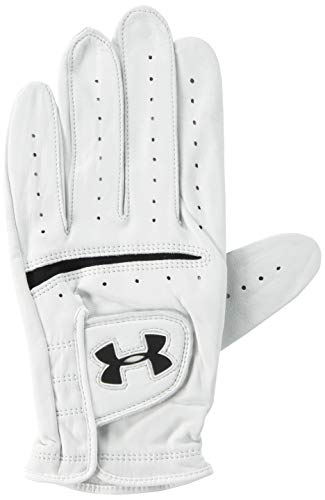 Under Armour Men's Strikeskin Tour Golf Glove, White (100)/Black, Right Hand XX-Large ()