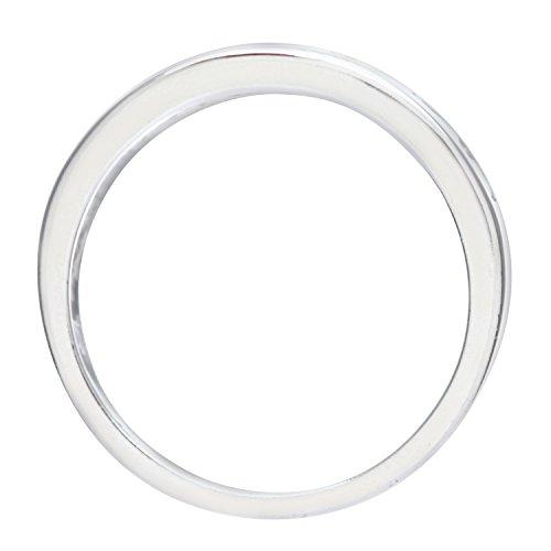 Bague Femme - Or blanc (9 carats) 2.6 Gr - Oxyde de zirconium