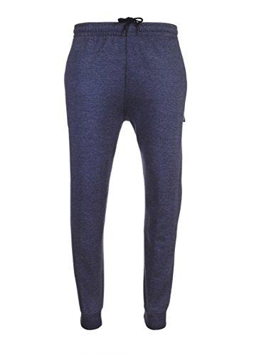 Spalding Mens Basic Fleece Athletic Workout Jogger Pants with Ribbed Cuffs Navy Blue Small (Pant Assault Blue)