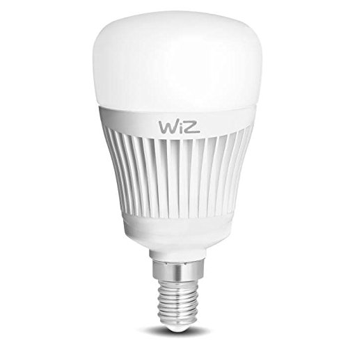 Bombilla LED WiZ inteligente con conexión WiFi, tipo vela E14, luz blanca. Regulable, 64.000 tonos de blanco. Funciona con Amazon Alexa y Google Home.