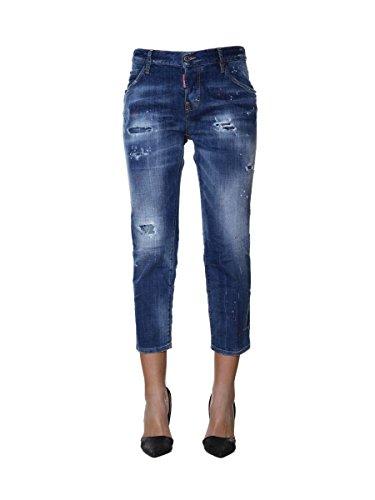 Dsquared2 Bleu Coton Jeans S72LB0067S30342470 Femme ZZqUr0