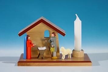 Kerzenhalter mit Hirte und 2 Schafe Länge ca 10,5 cm NEU Kerzenständer Kerzenleu