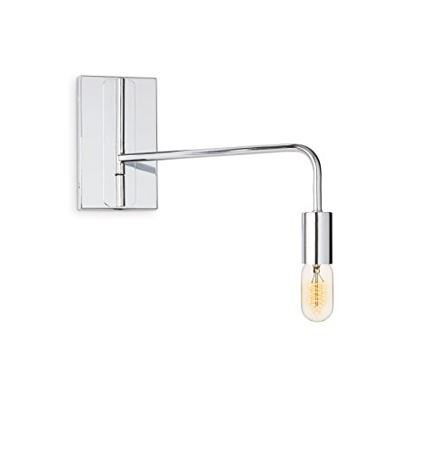 Collection Chrome Plug (Chrome Swing Arm Wall Sconce Light, Dual Power Sources, Vintage Bulb Included, Plug and Hardware Included, Brooklyn Bulb Co. Hoyt Collection, ETL Listed)