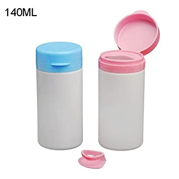 20pcs/lot HDPE botellas de plástico 140 ml con tapón, botellas de chicles de
